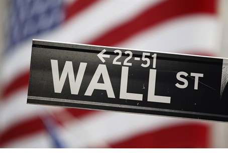 Wall Street sign outside the stock exchange
