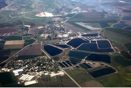 Water reservoirs in nothern Israel