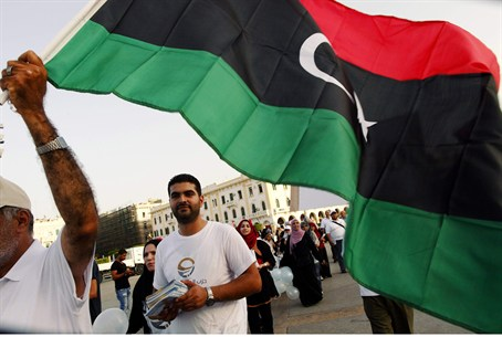 Supporters of Libyan Muslim Brotherhood celeb
