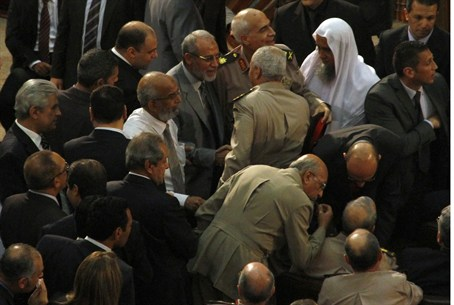 Egypt's Muslim Brotherhood leader Mohamed Bad