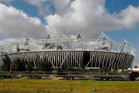 Olympics stadium in London - no time to remeb