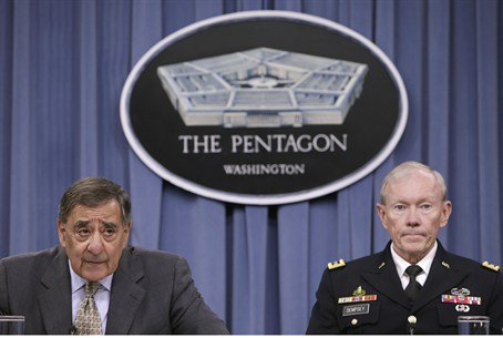 U.S. Secretary of Defense Leon Panetta (L) sp