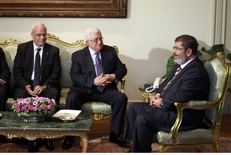 Abbas and Morsi meet