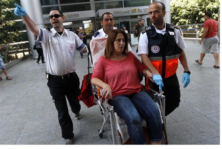 Nurit Harush, wounded in terror attack in Bul