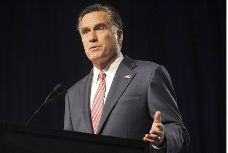 Republican presidential candidate Mitt Romney