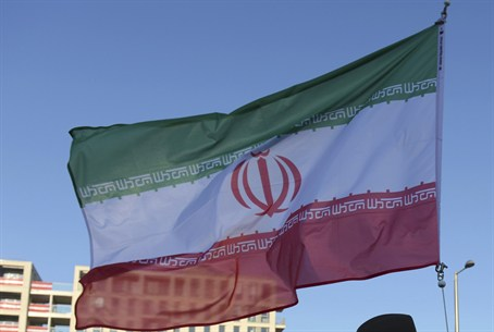 Iranian flag at the Olympic Village