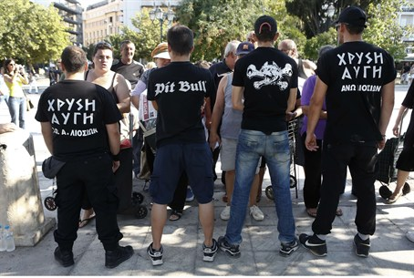 Supporters of Greece's Golden Dawn extreme ri