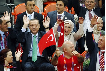 Erdogan at London Olympics