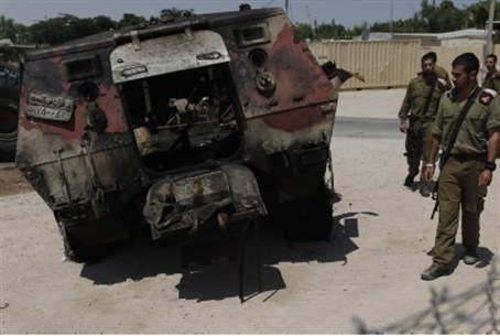 August, 2012: wreckage of Egyptian APC.