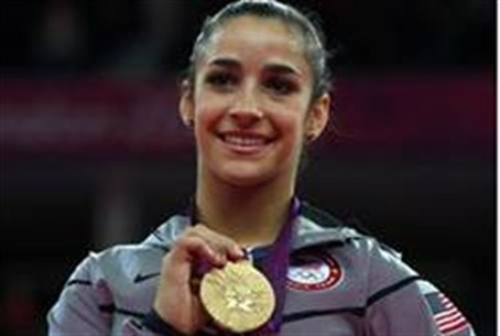 Raisman with gold medal