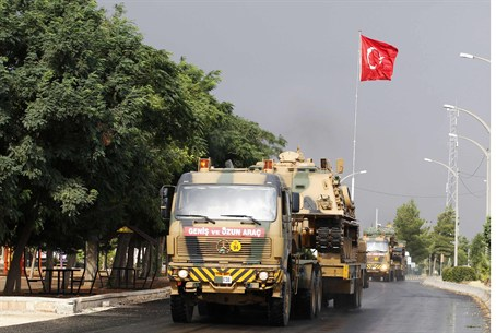 Turkish military convoy in Gaziantep province