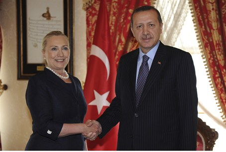 Hillary Clinton with PM Erdogan