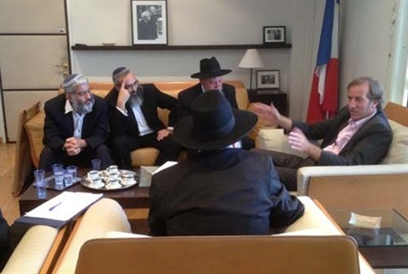 Rabbis meet French ambassador