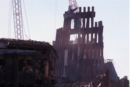 Ruins of the Twin Towers of the World Trade C