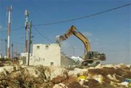 Demolition of mikveh at Migron