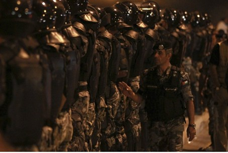 Jordanian police face price riot, Sept. 1.