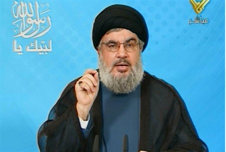 Hizbullah chief Hassan Nasrallah delivers a t