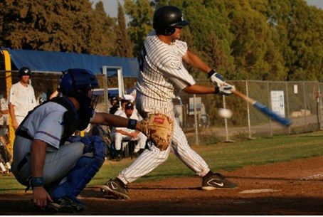 Strike One! Israel baseball player, 2007.
