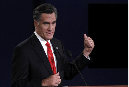 Republican nominee Mitt Romney