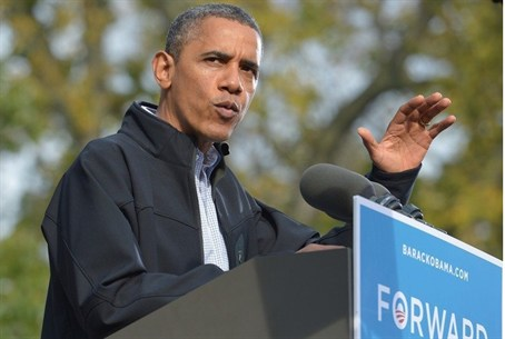 U.S. President Barack Obama at a campaign ral