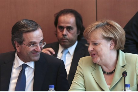 Merkel with Greek Pm Samaras