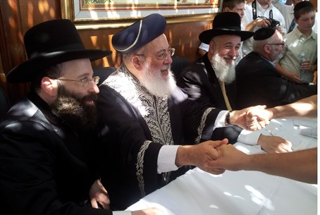 Chief Rabbis in the Succah