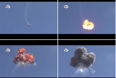 Images from a YouTube video showing downed Sy