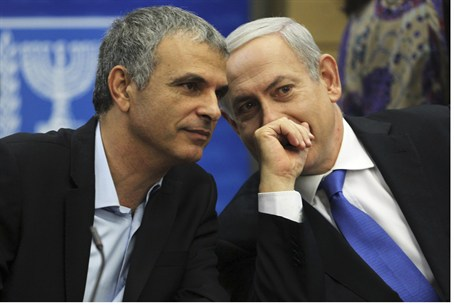 Kahlon, seen here with Bibi Netanyahu