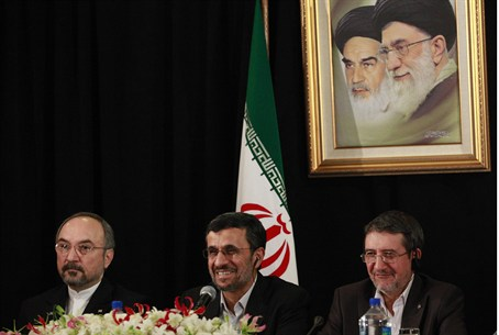 Iranian President Mahmoud Ahmadinejad speaks