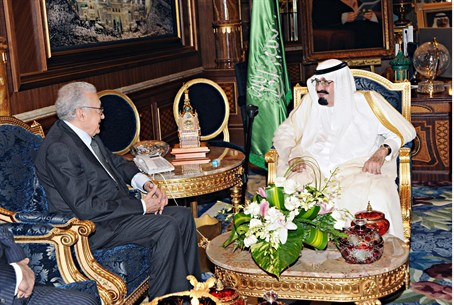 Saudi King Abdullah meets with UN-Arab League