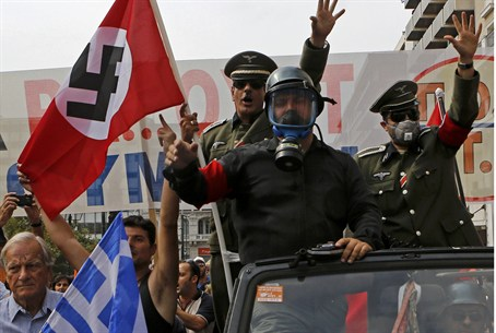 neo-Nazi march in Greece (illustration)