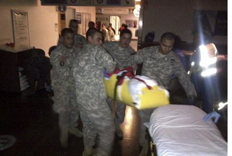 NY Army Nat'l Guard evacuates patients at Bel