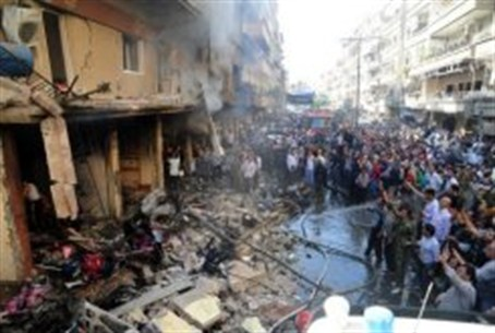 State media picture of aftermath of explosion