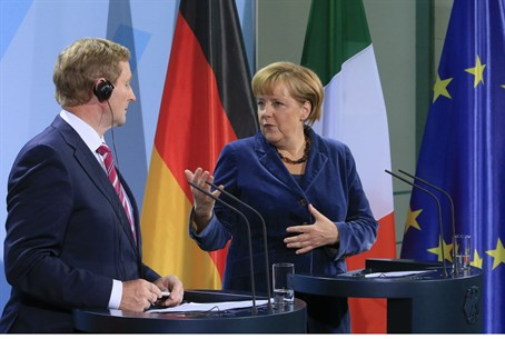 Merkel with Irish PM Kenny