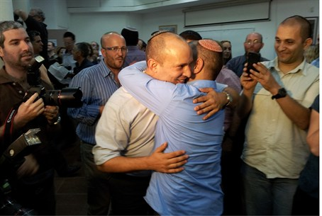 Naftali Bennett after his victory