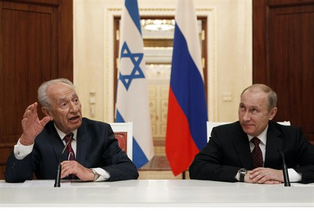 Putin and Peres met in Russia to discuss a wi