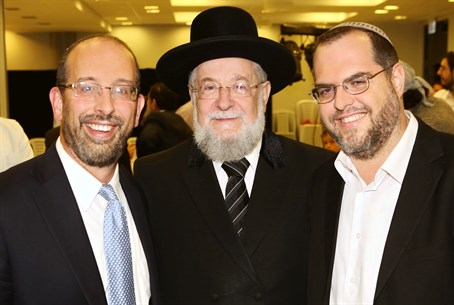 Barkai Founders with Rabbi Yisrael Meir Lau