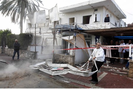Damage from Monday's Netivot Attack