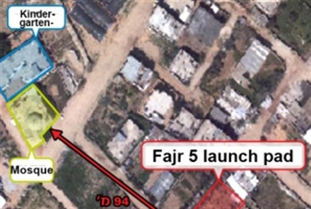 IAF photo of Fajr site