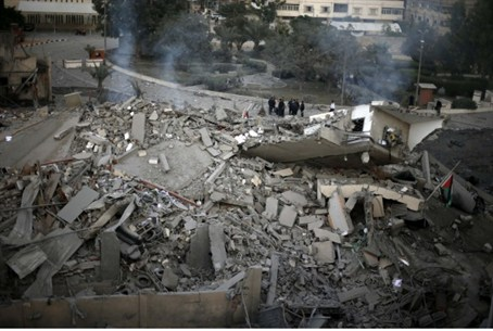 Rubble of Haniyeh HQ