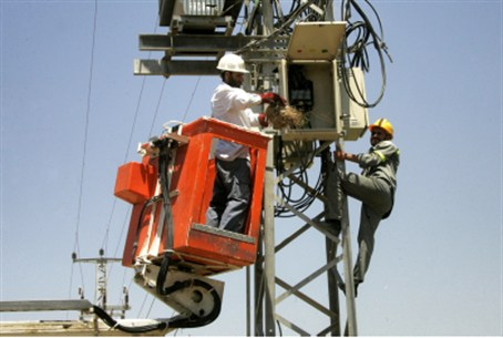 Gaza electricity workers (file