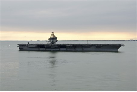 Aircraft carrier USS Enterprise returns to ho