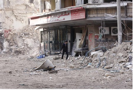 Damage at Dar al Shifa hospital in Aleppo