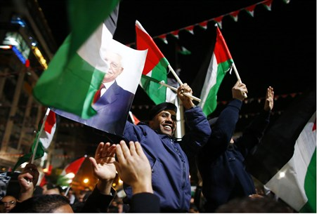 PA Arabs celebrate in Ramallah