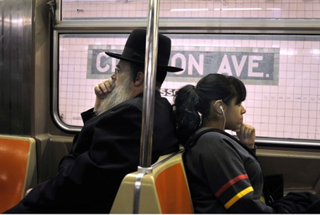 ultra orthodox Jewish man and secular woman o