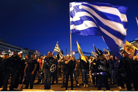 supporters of neo-Nazi Golden Dawn party