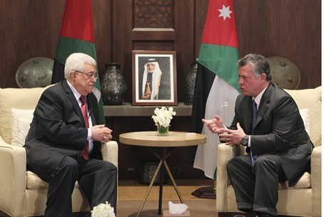 Jordan's King Abdullah meets with PA chairman