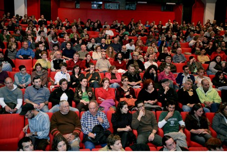 audience at movie theatre