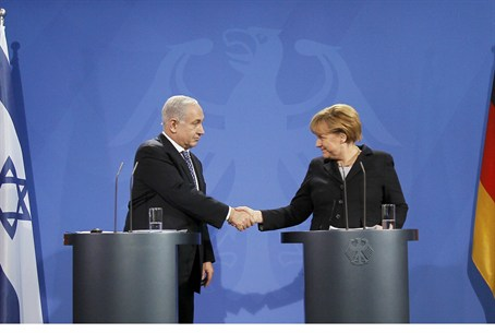 PM Netanyahu, Germany's Merkel