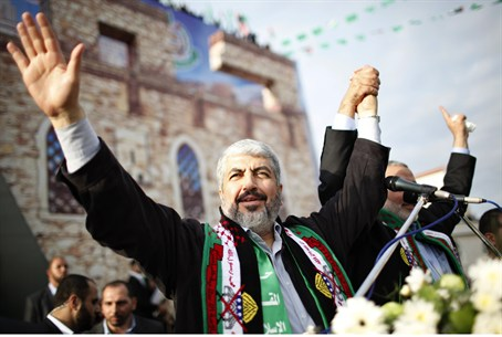 Khaled Mashaal in Gaza (file)